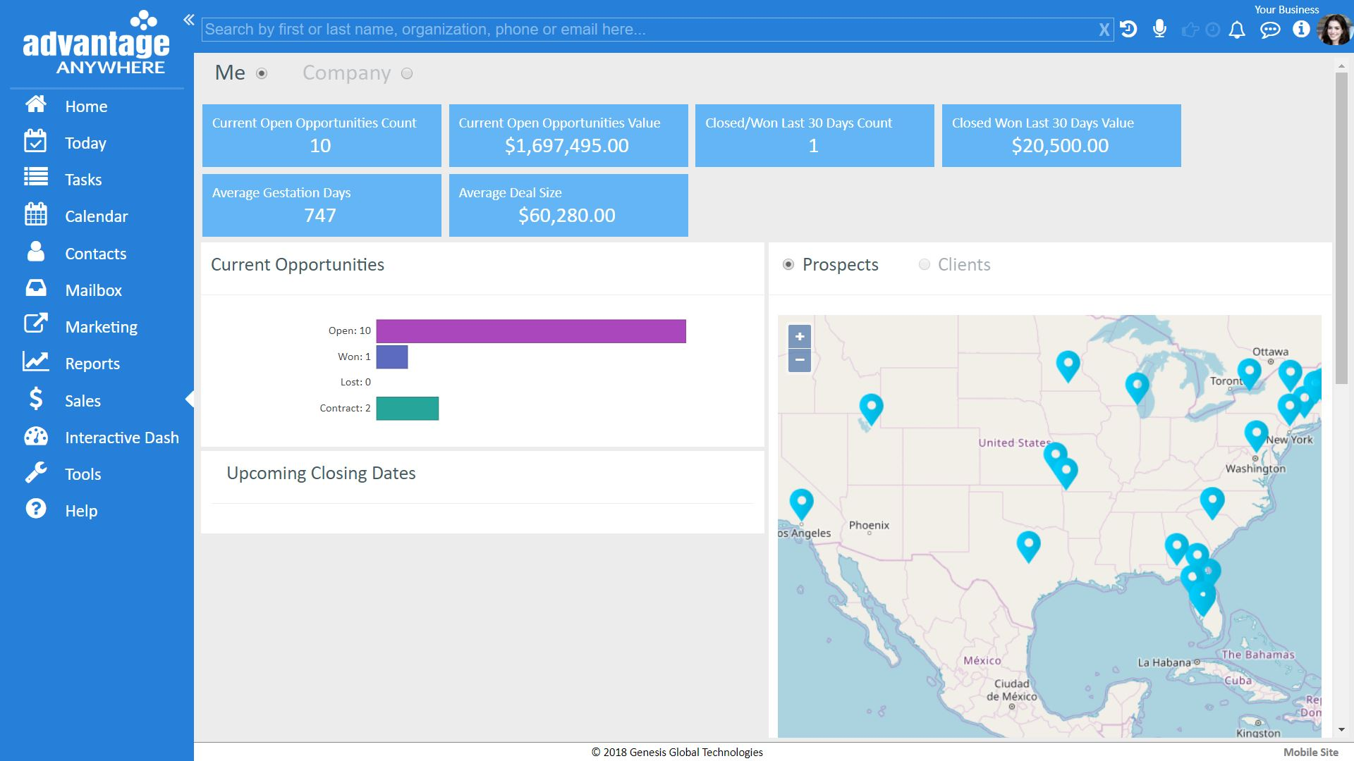 Personal Sales Dashboard